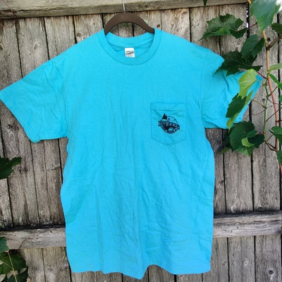 LCRC Pocket Logo Tee- Aqua Blue