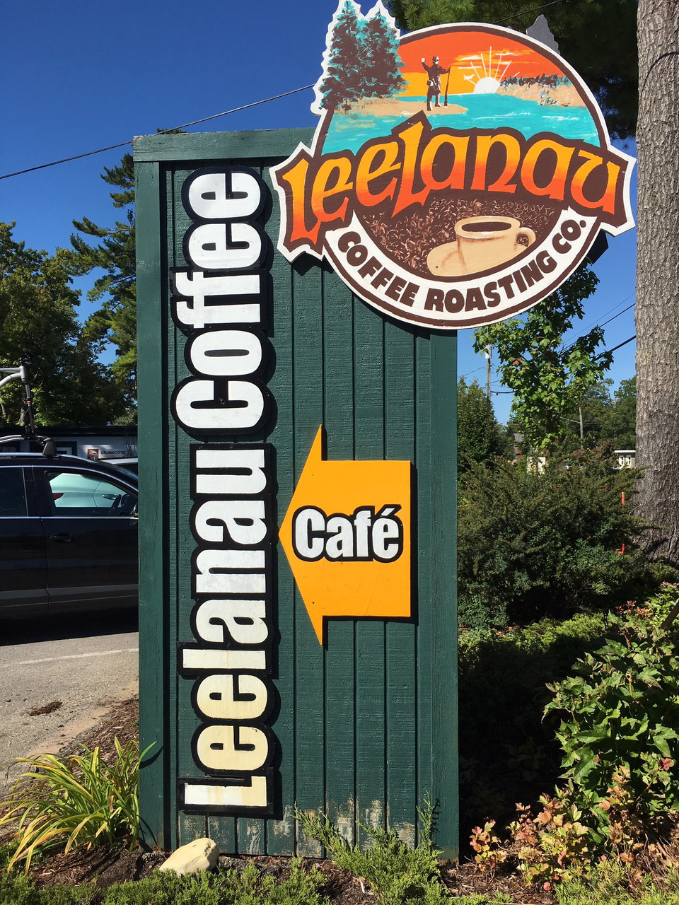 Leelanau Coffee Sign